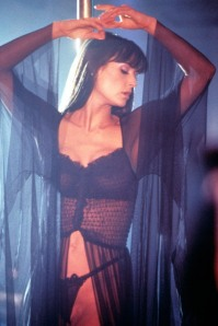 Demi Moore from Striptease.  She oddly had no problem wearing this in the recording booth when recording dialogue for Hunchback of Notre Dame.
