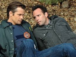 """Hey Raylan, how about we have a smolder-off. Okay, looks like you're going first."""