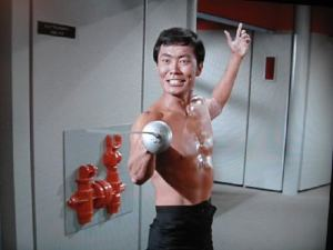 star trek sulu-in-sword-play-george-takei-in-