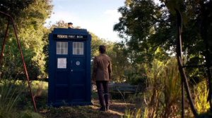 "Matt Smith and the Tardis from ""The 11th Hour"""