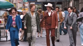 anchorman 2 the legend - team re assembles in trailer for anchorman 2