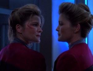 Star Trek Voyager Deadlock Janeway_meets_Janeway
