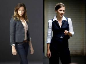 Katie Cassidy as Laurel Lance, Maggie Gyllenhaal as Rachel Dawes.
