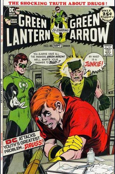Green Lantern Green Arrow drug cover