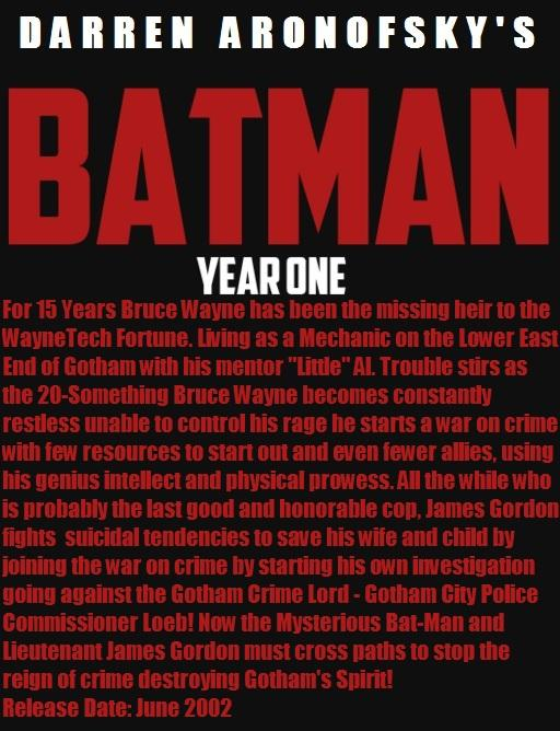 Darren Aronofsky's Batman Year One  Storyline