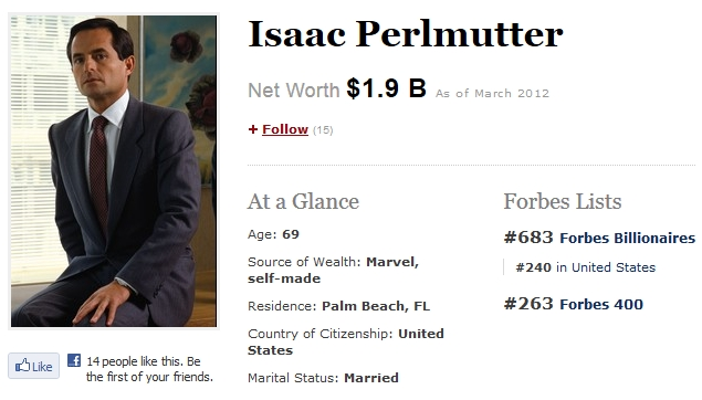 Isaac Perlmutter Marvel