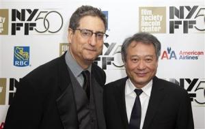 """Former head of 20th Century Fox Tom Rothman (L) and Director Lee Ang attend the opening night gala presentation of film """"Life Of Pi"""" at the 50th New York Film Festival at Alice Tully Hall in New York September 28, 2012. REUTERS/Andrew Kelly"""