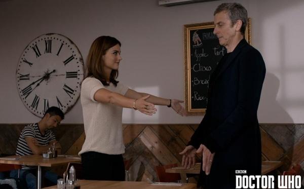 Doctor Who Clara Hug Season 8 Finale