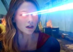 supergirl laser eyes