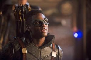 "DC's Legends of Tomorrow -- ""Star City 2046"" -- Image LGN106b_0363b.jpg -- Pictured: Joseph David-Jones as Connor Hawke / Green Arrow -- Photo: Diyah Pera/The CW -- © 2016 The CW Network, LLC. All Rights Reserved."