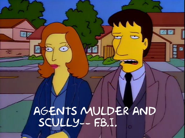 Mulder and Scully FBI Simpsons
