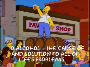Simpsons Alcohol quote