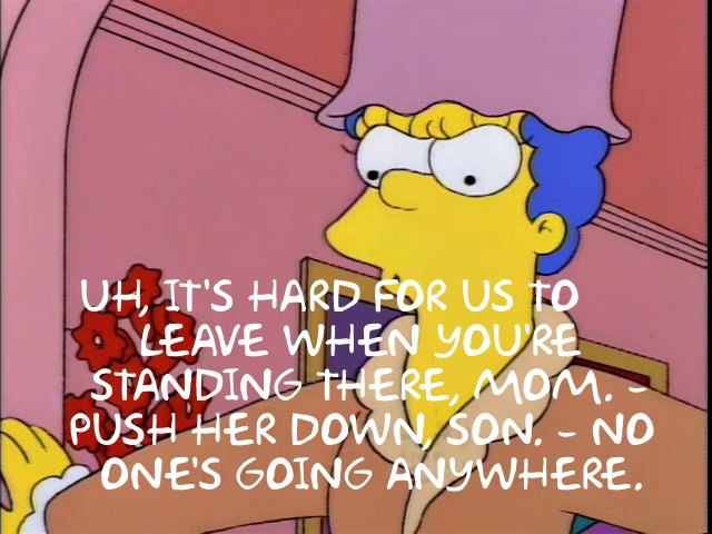 Simpsons Push Her Down