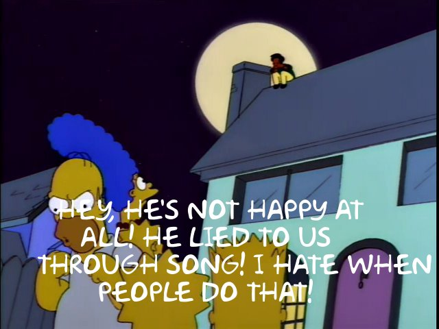 Simpsons Song quote