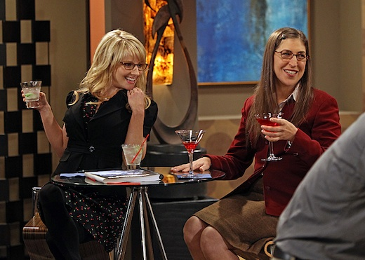 """The Hofstadter Insufficiency"" -- Sheldon and Penny share intimate secrets while Leonard is away at sea, on a special one-hour seventh season premiere of THE BIG BANG THEORY Thursday, Sept. 26 (8:00 – 9:01 PM, ET/PT) on the CBS Television Network. Pictured left to right: Melissa Rauch and Mayim Bialik Photo: Monty Brinton/CBS ©2013 CBS Broadcasting, Inc. All Rights Reserved."