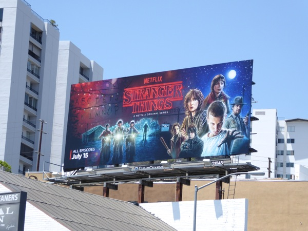 Stranger Things series launch billboard