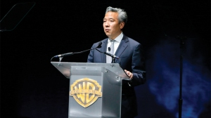 Mandatory Credit: Photo by Eric Charbonneau/REX Shutterstock (4691380bm) Kevin Tsujihara Warner Bros Presentation at CinemaCon 2015, Las Vegas, America - 21 Apr 2015