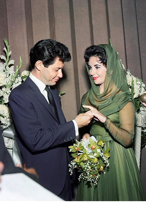 Eddie Fisher with Elizabeth Taylor 1959