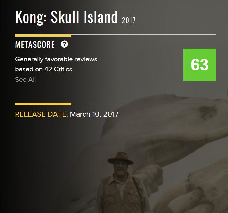 Kong Metascore